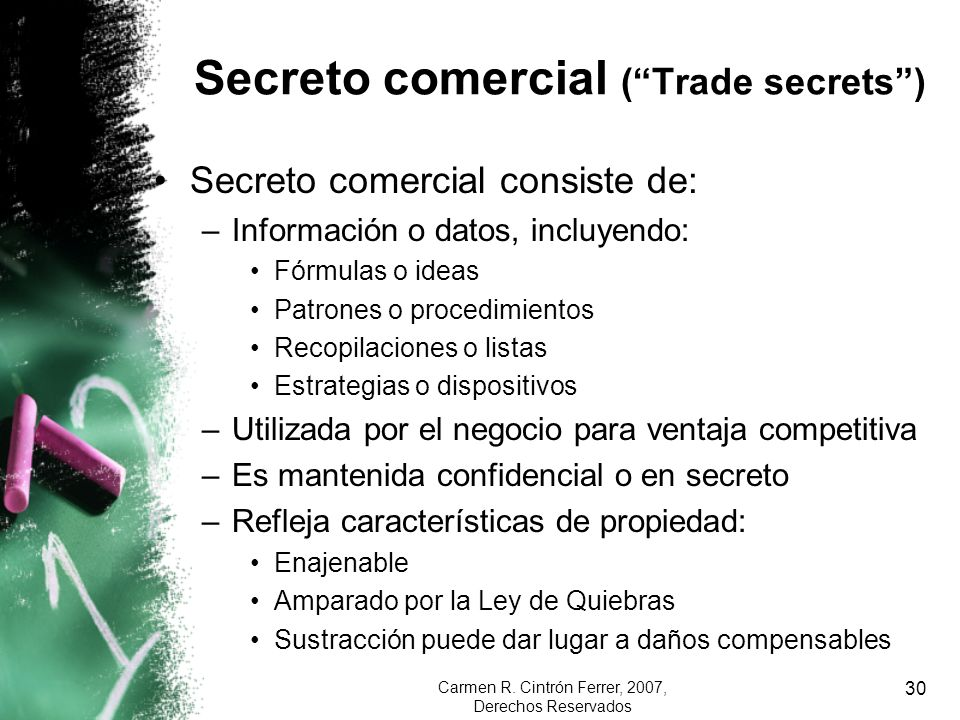 Secreto comercial ( Trade secrets )
