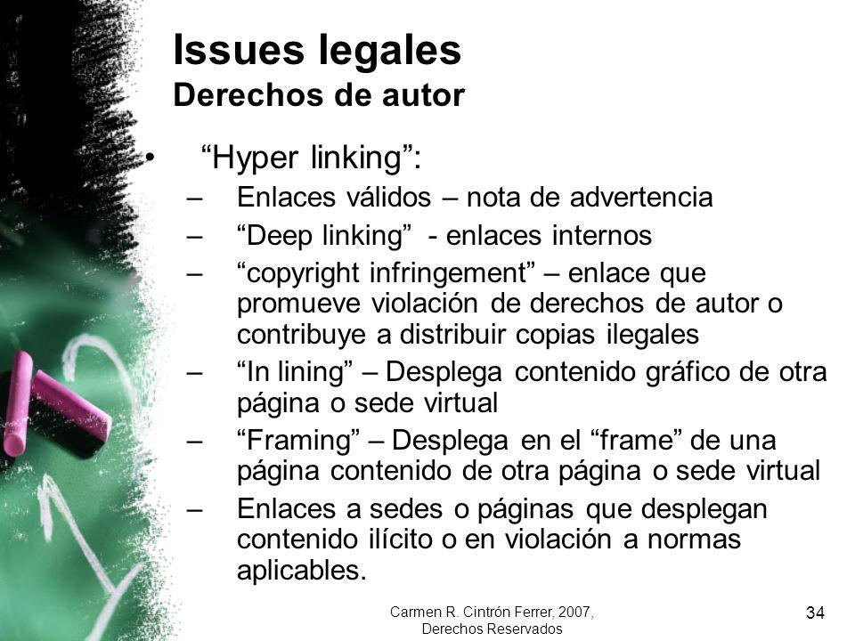 Issues legales Derechos de autor