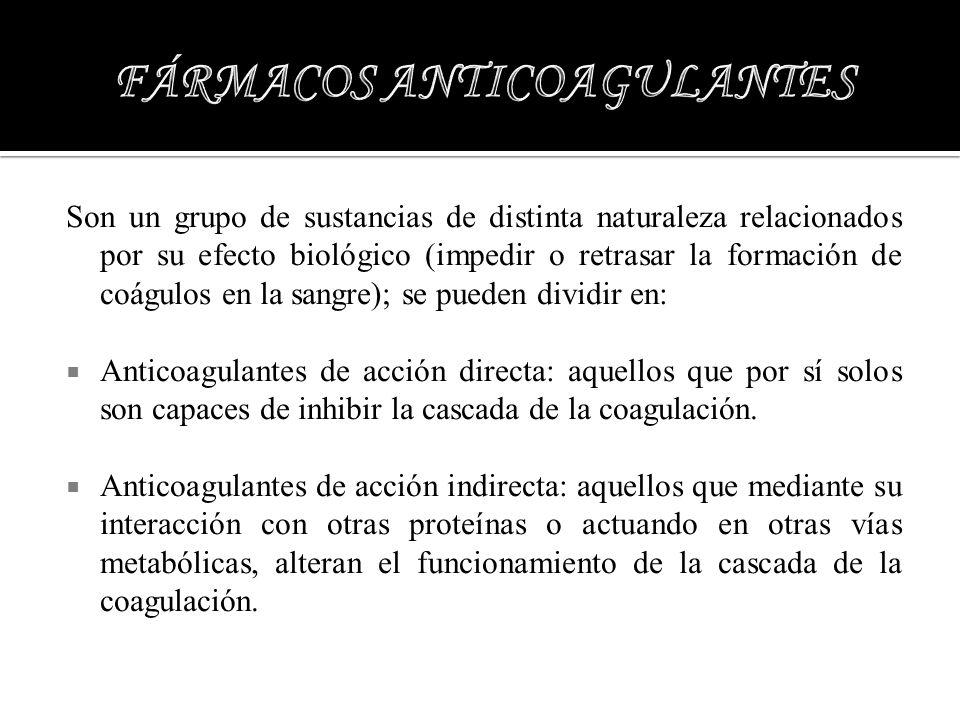FÁRMACOS ANTICOAGULANTES