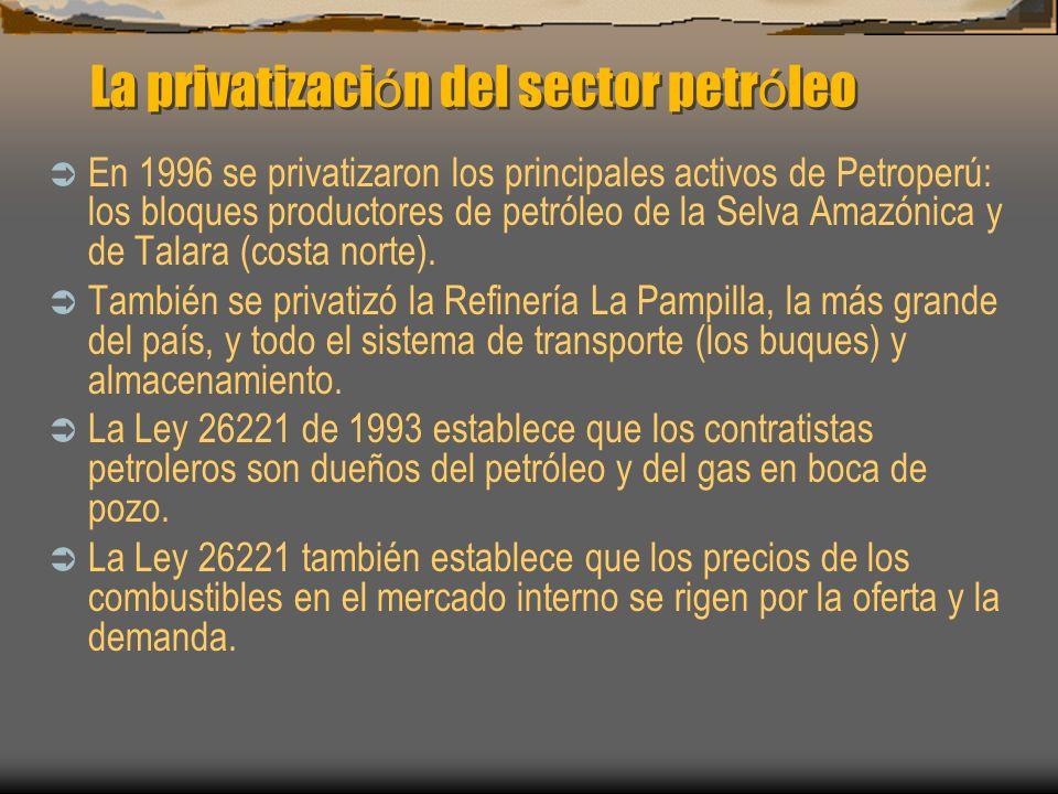 La privatización del sector petróleo