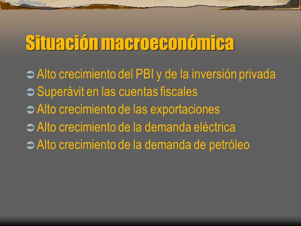 Situación macroeconómica