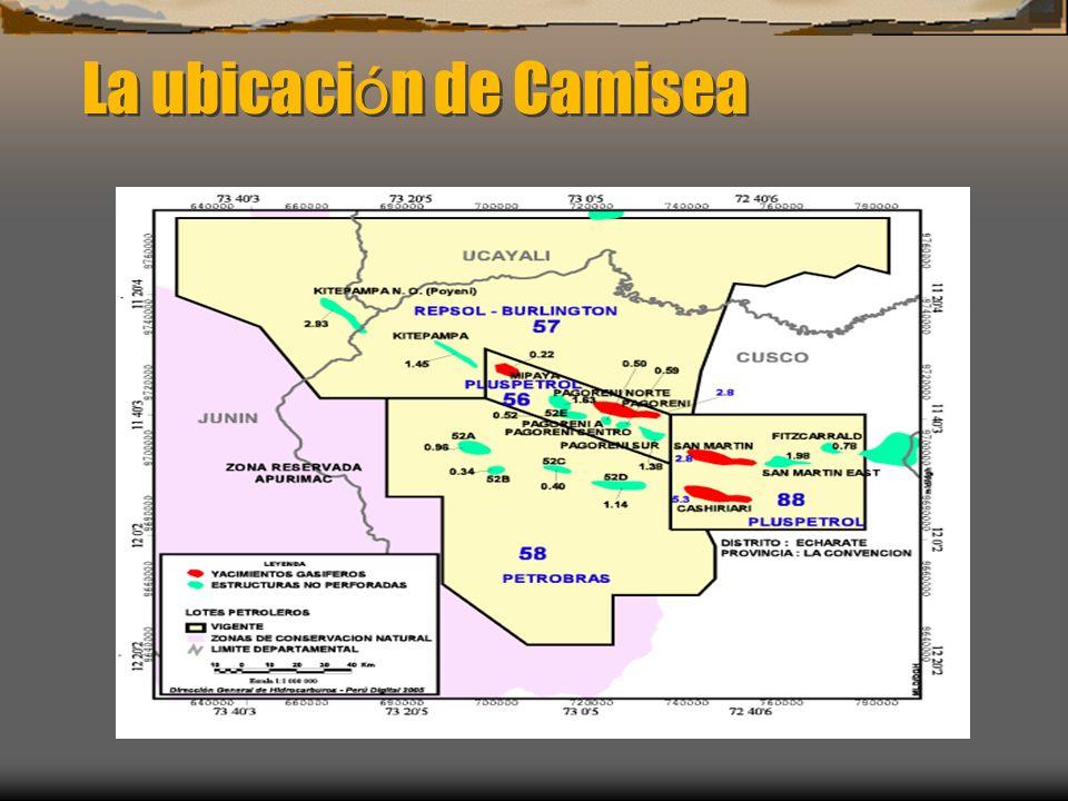 La ubicación de Camisea