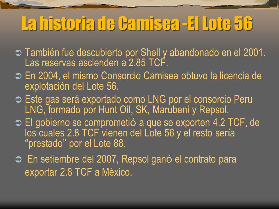La historia de Camisea -El Lote 56