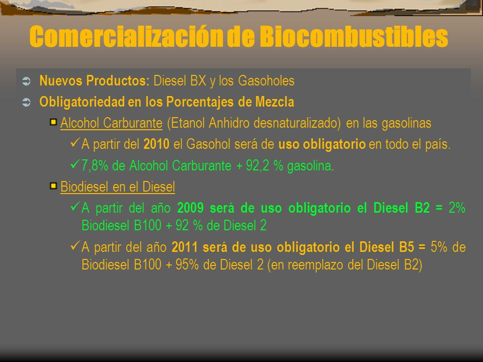 Comercialización de Biocombustibles
