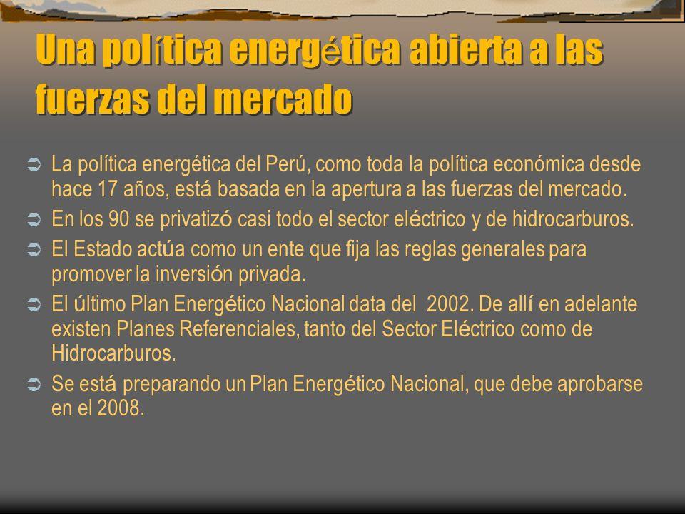 Una política energética abierta a las fuerzas del mercado