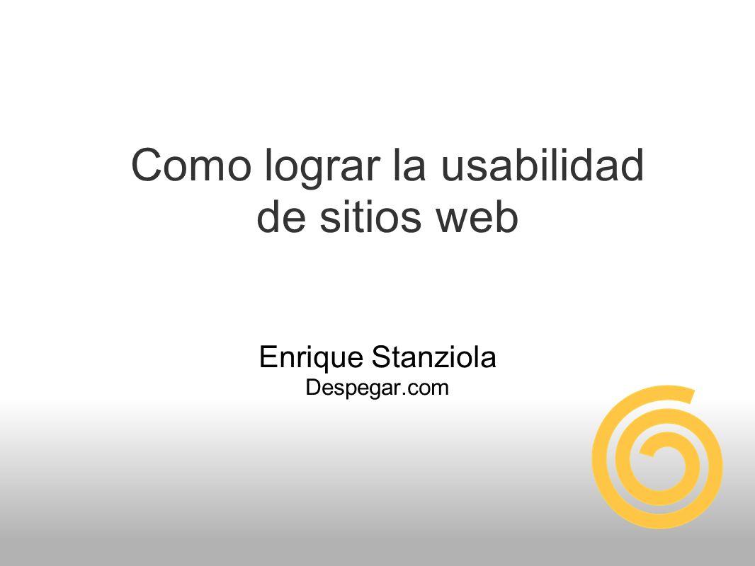 Como lograr la usabilidad de sitios web