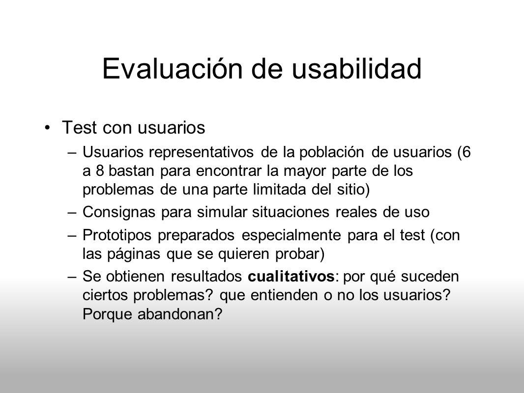 Evaluación de usabilidad