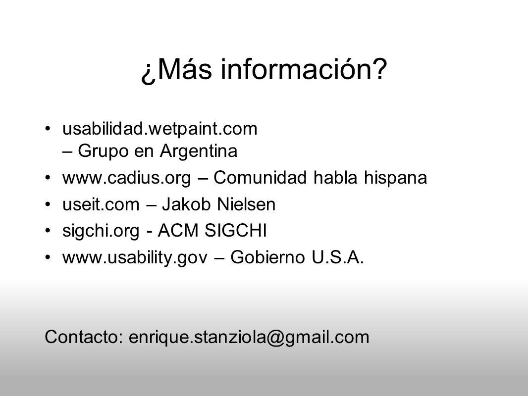 ¿Más información usabilidad.wetpaint.com – Grupo en Argentina