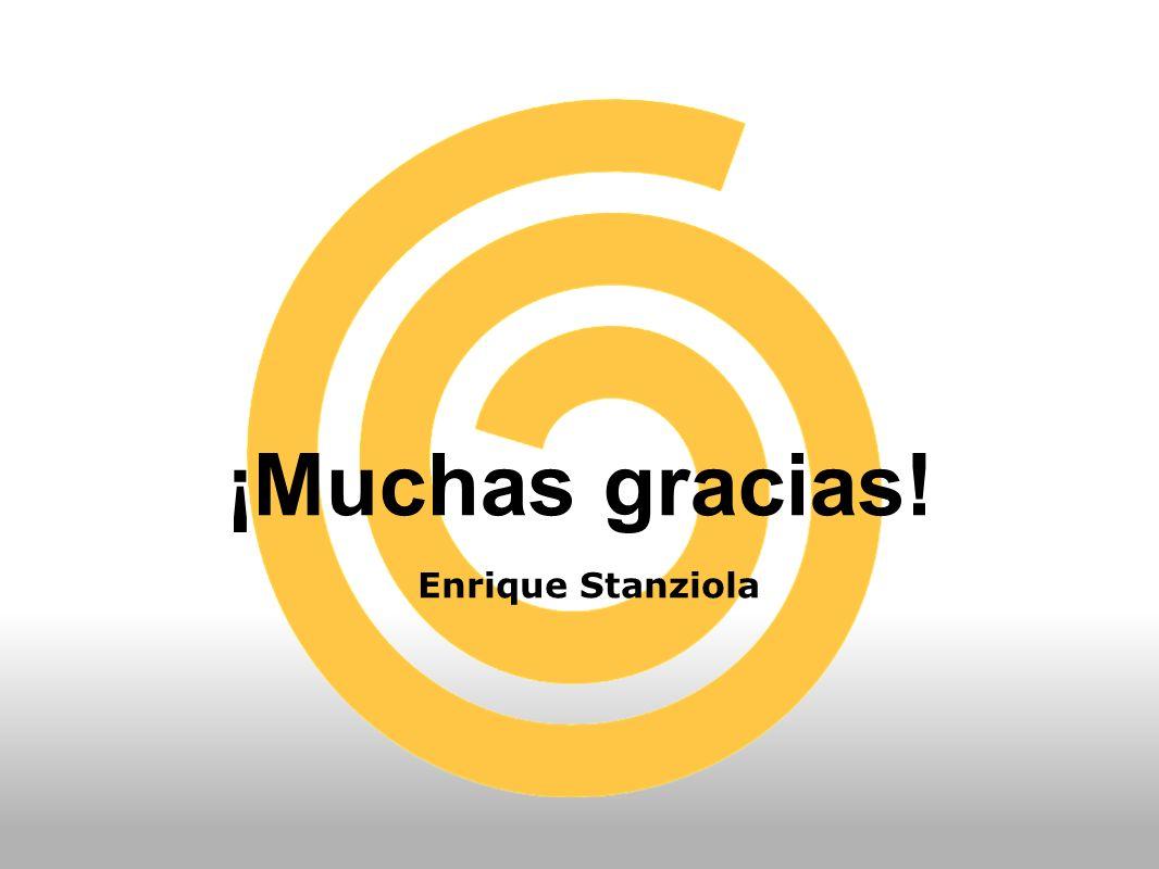 ¡Muchas gracias! Enrique Stanziola