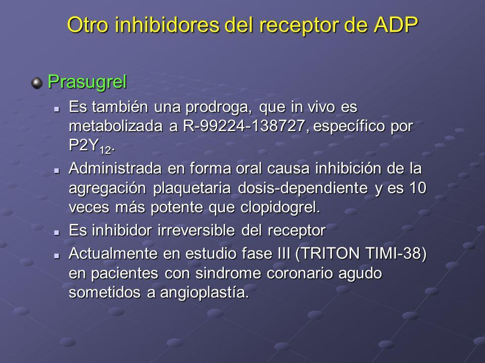 Otro inhibidores del receptor de ADP