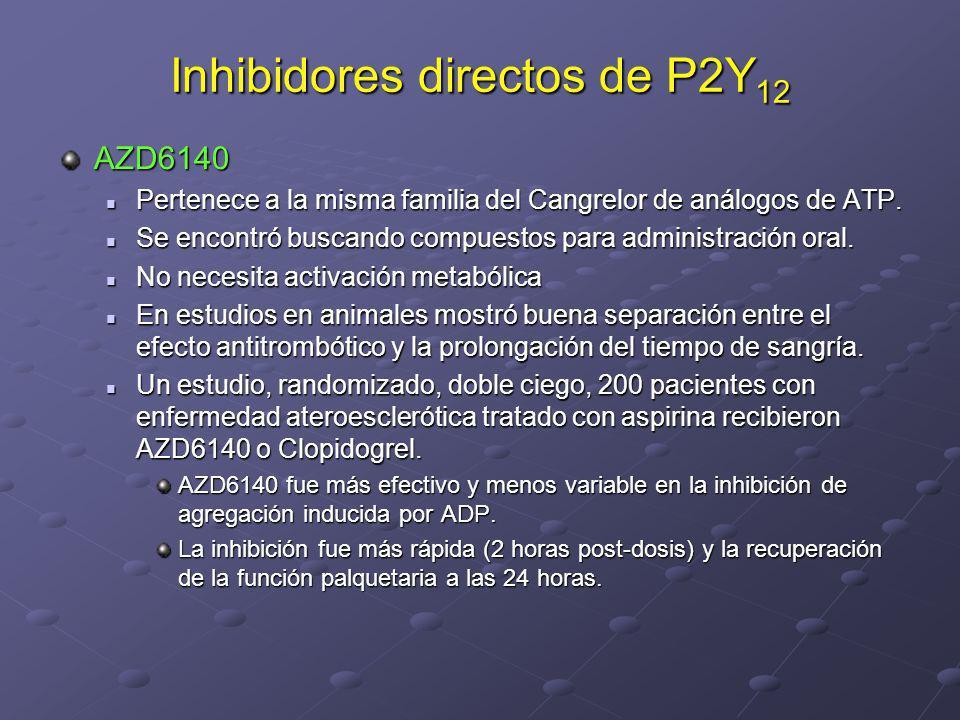 Inhibidores directos de P2Y12