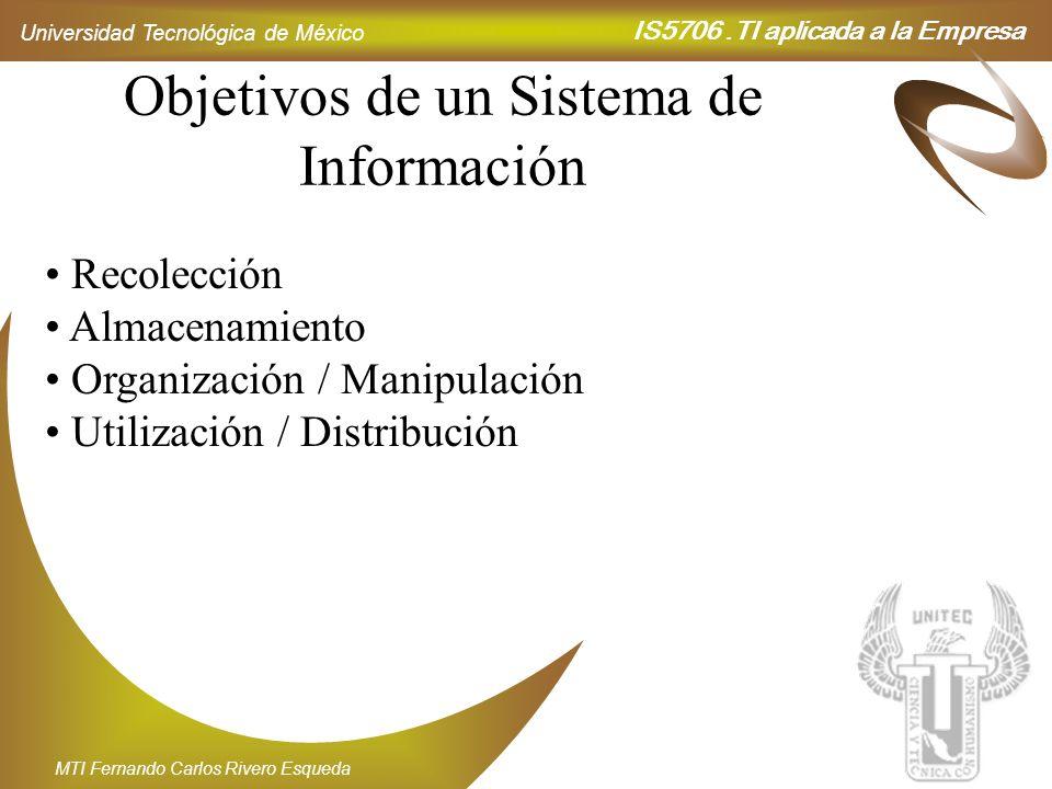 Objetivos de un Sistema de Información