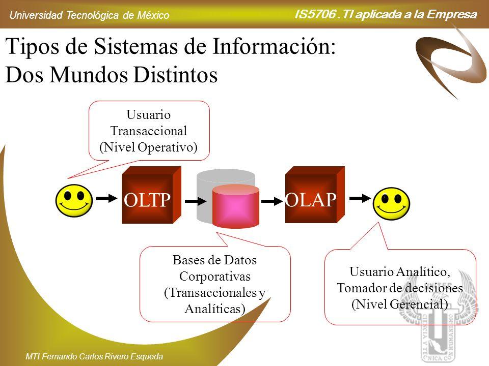 Tipos de Sistemas de Información: Dos Mundos Distintos