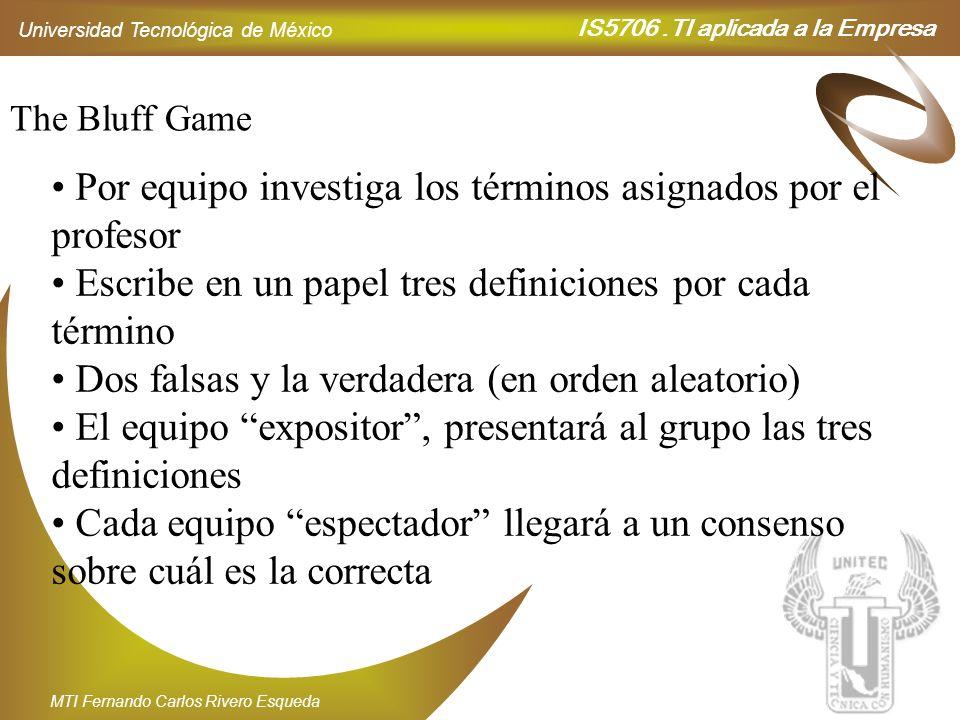 Por equipo investiga los términos asignados por el profesor