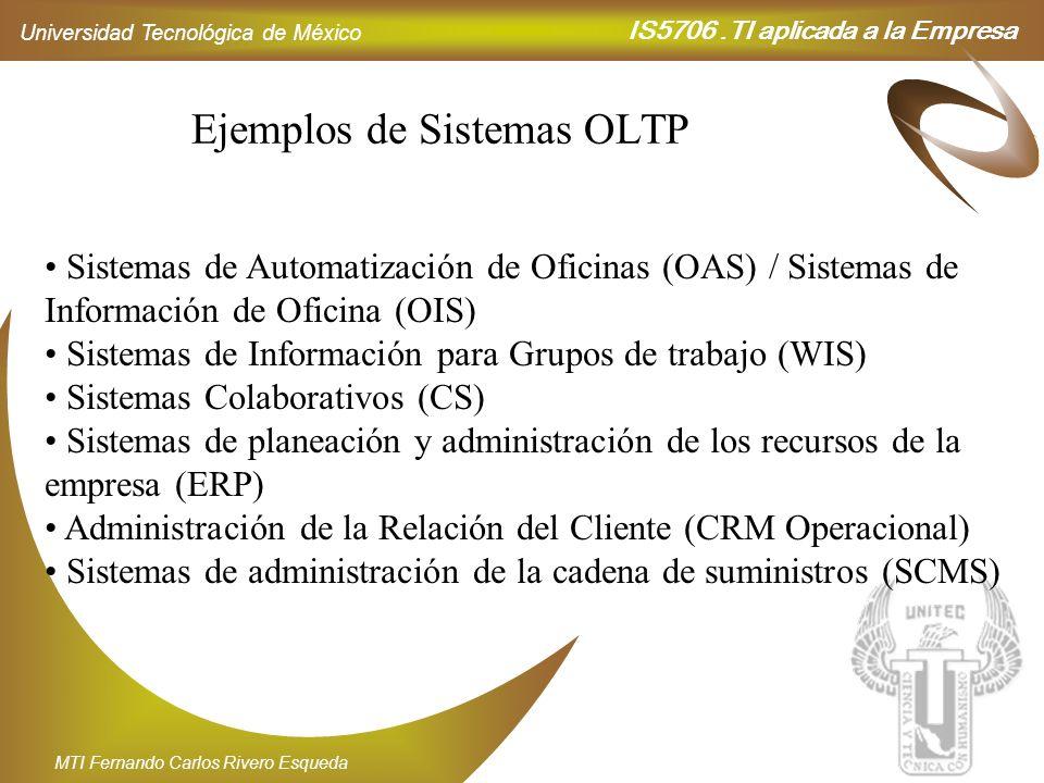 Ejemplos de Sistemas OLTP