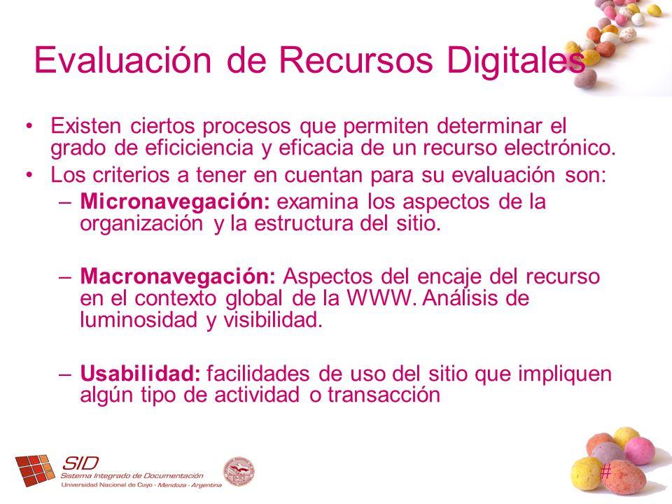 Evaluación de Recursos Digitales