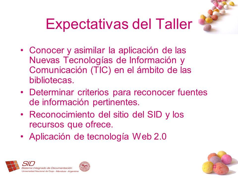 Expectativas del Taller