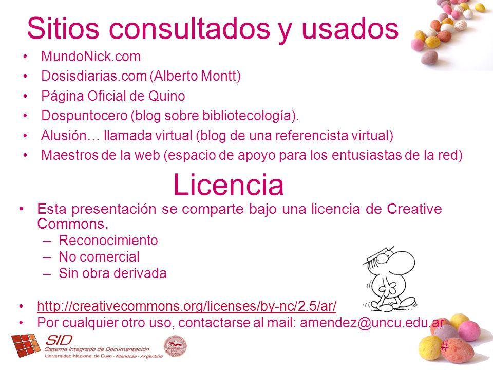Sitios consultados y usados