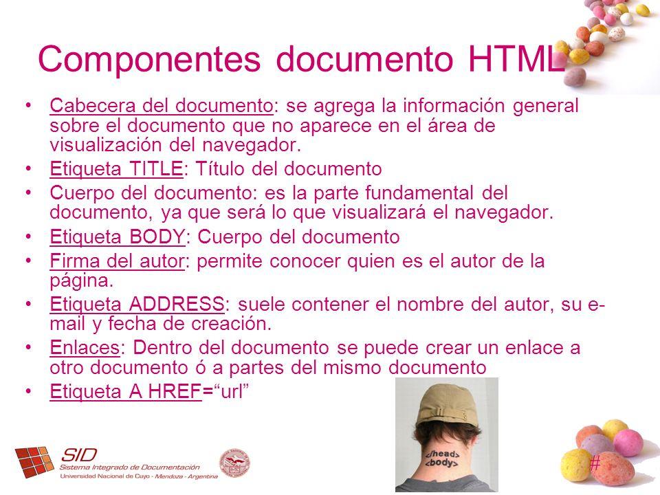 Componentes documento HTML