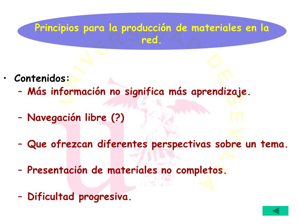 Principios para la producción de materiales en la red.