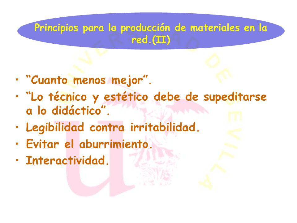 Principios para la producción de materiales en la red.(II)
