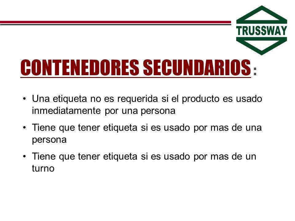 CONTENEDORES SECUNDARIOS :