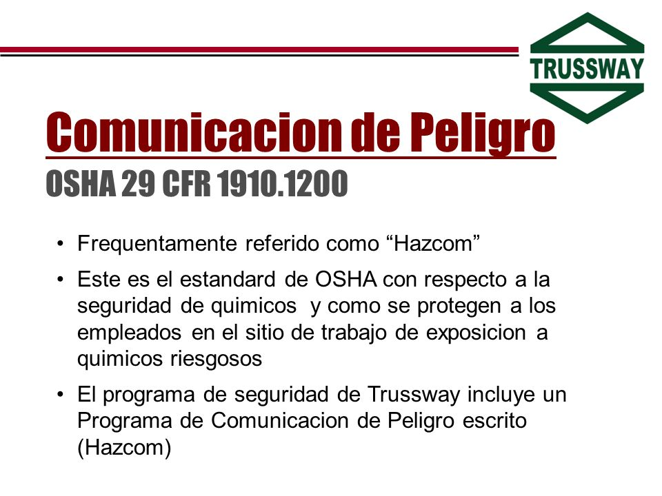 Comunicacion de Peligro