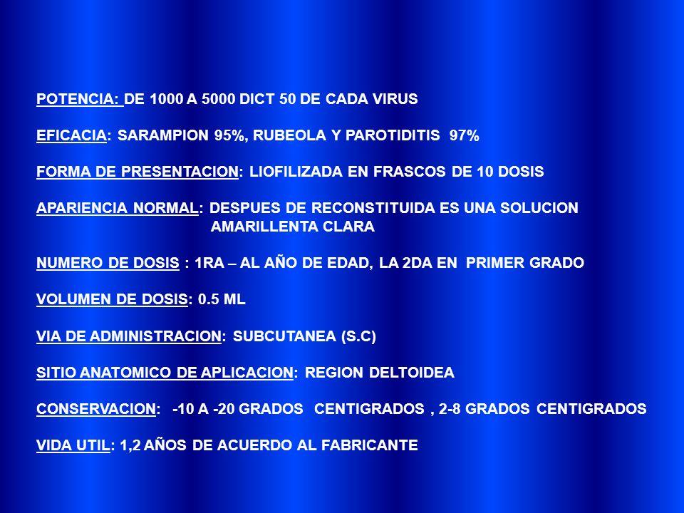 POTENCIA: DE 1000 A 5000 DICT 50 DE CADA VIRUS