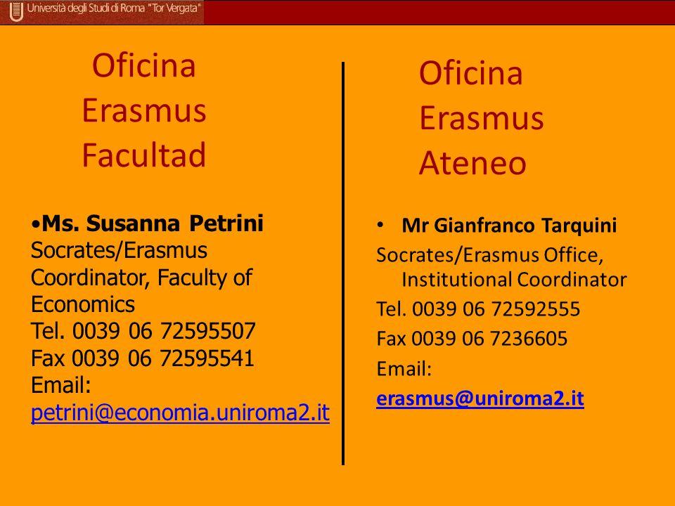 Oficina Erasmus Facultad