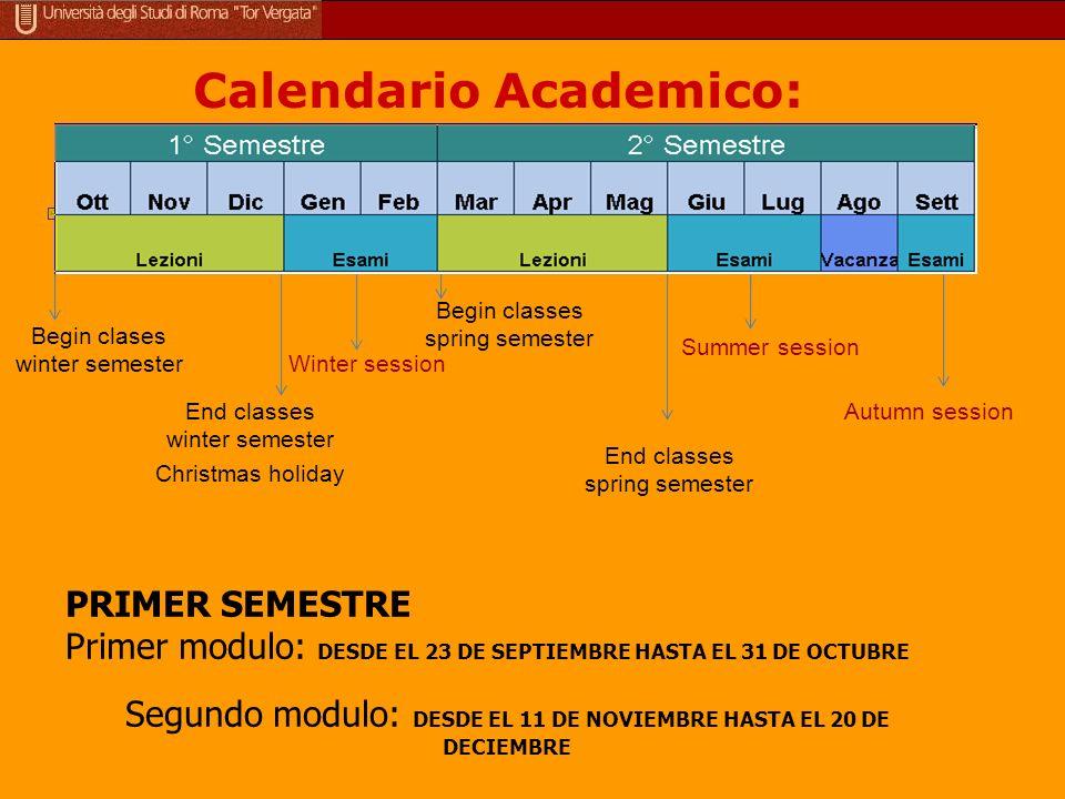 Calendario Academico: