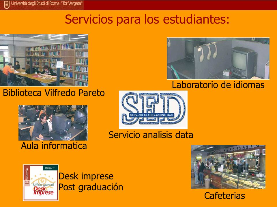 Servicios para los estudiantes: