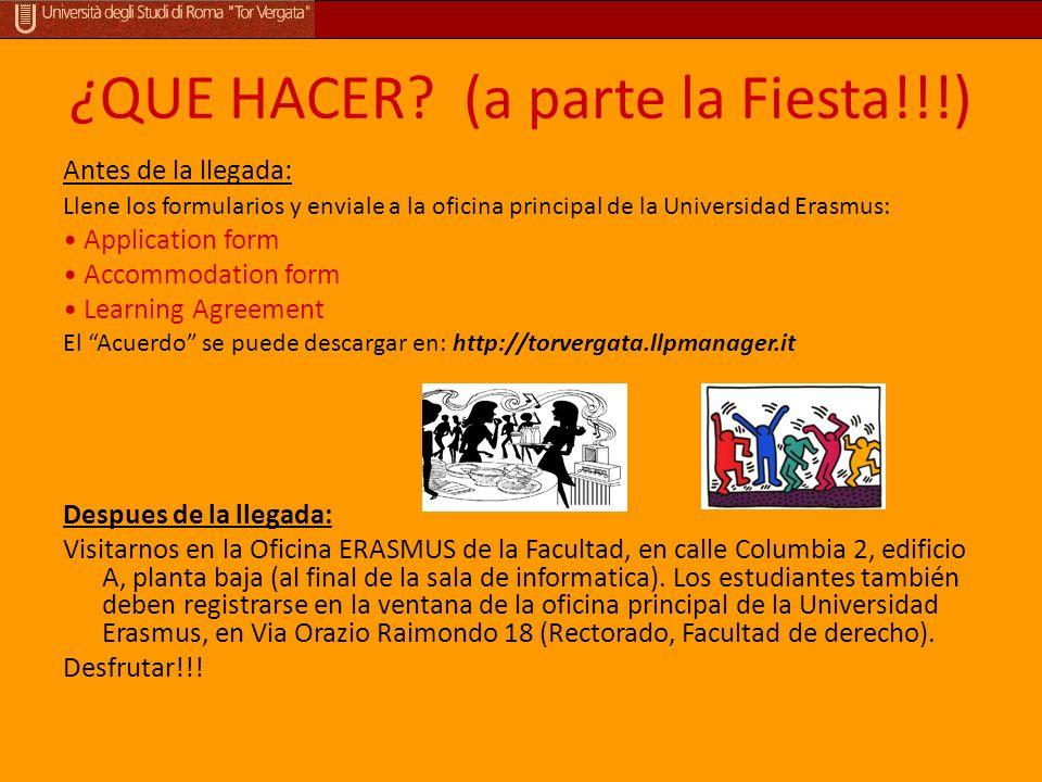 ¿QUE HACER (a parte la Fiesta!!!)