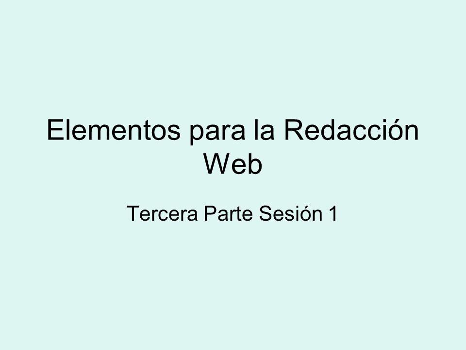 Elementos para la Redacción Web