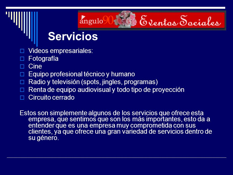 Servicios Videos empresariales: Fotografía Cine