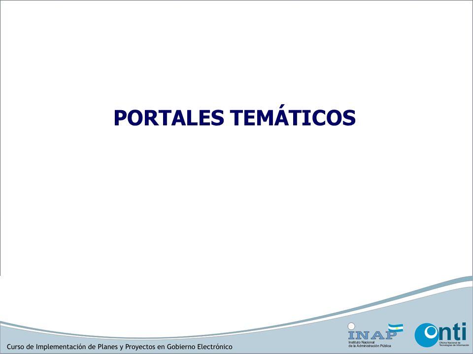 PORTALES TEMÁTICOS