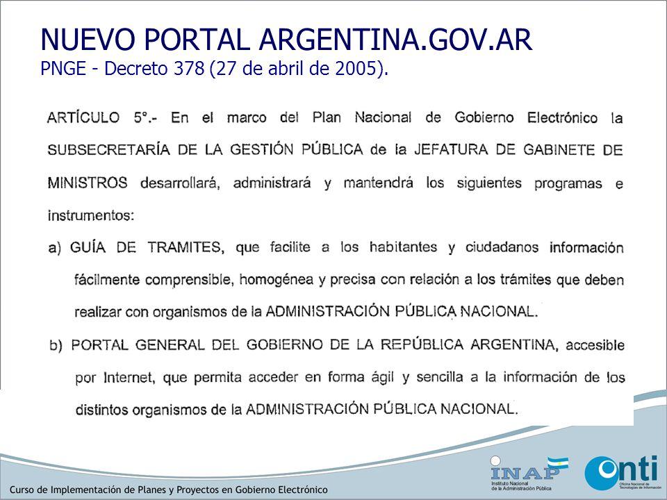 NUEVO PORTAL ARGENTINA. GOV