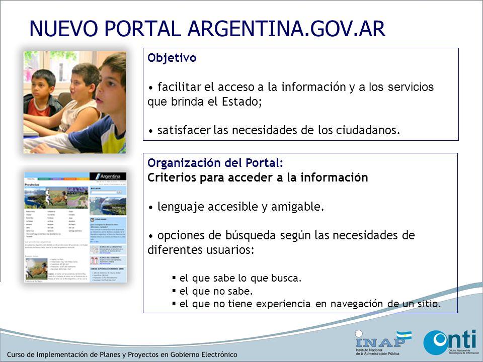 NUEVO PORTAL ARGENTINA.GOV.AR