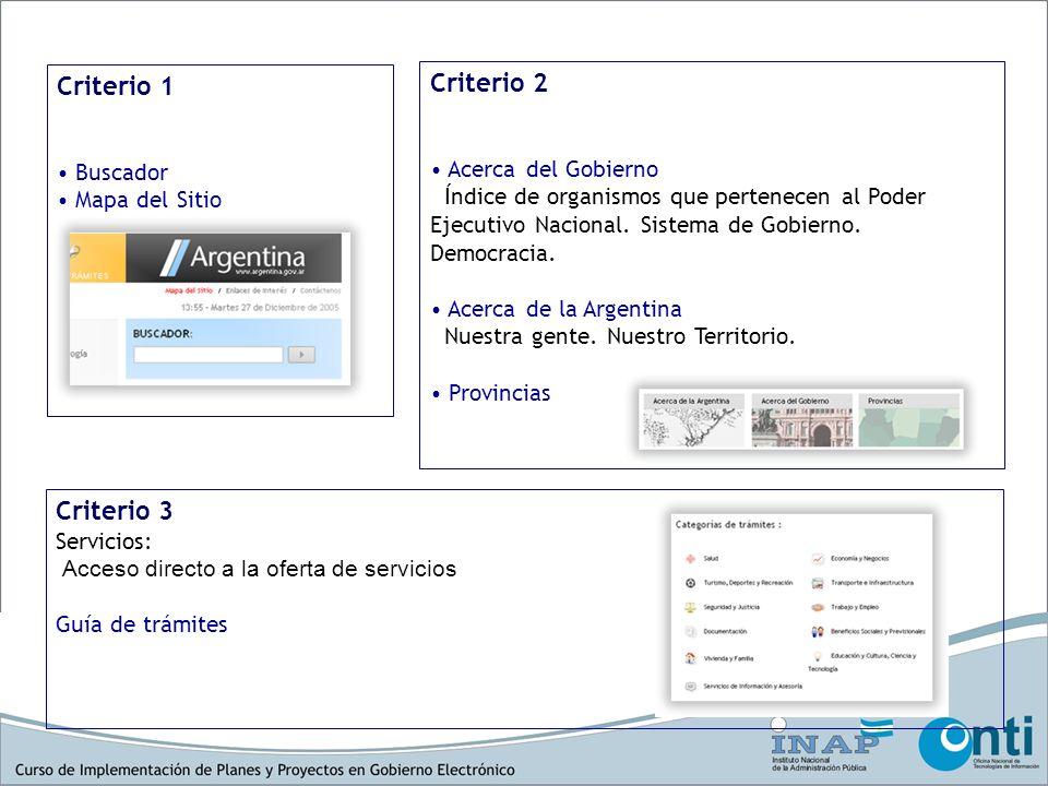Criterio 1 Criterio 2 Criterio 3 Acceso de tipo primario: