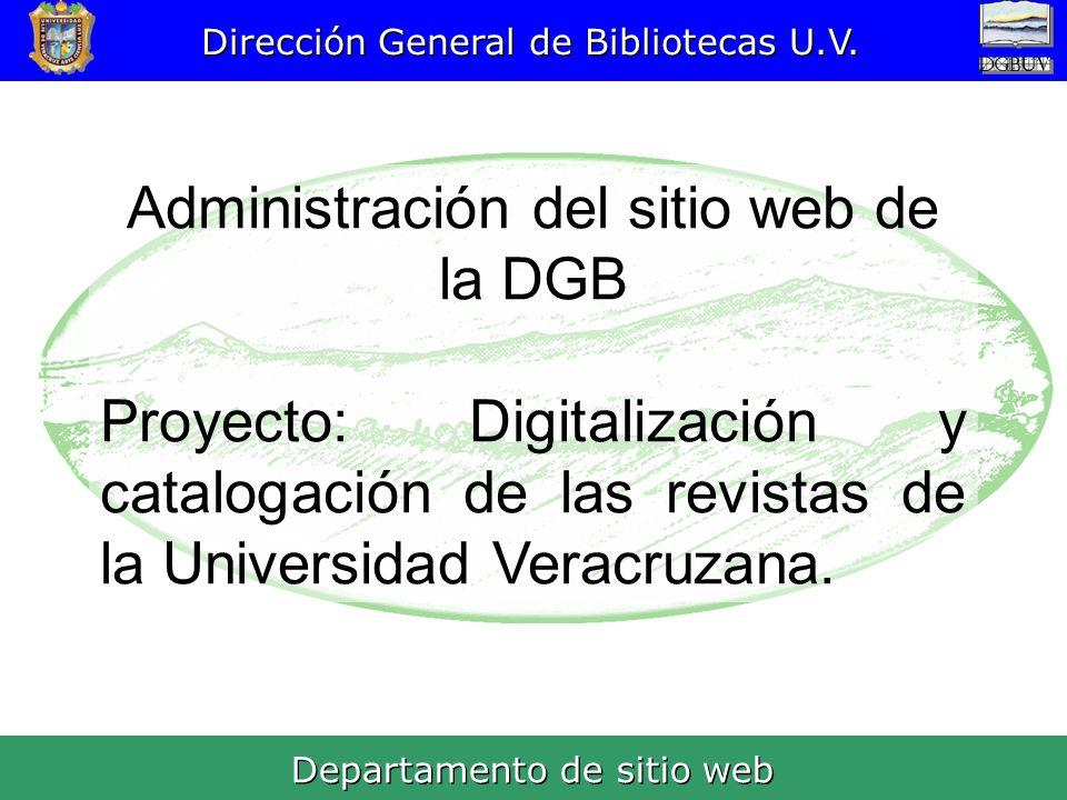 Administración del sitio web de la DGB