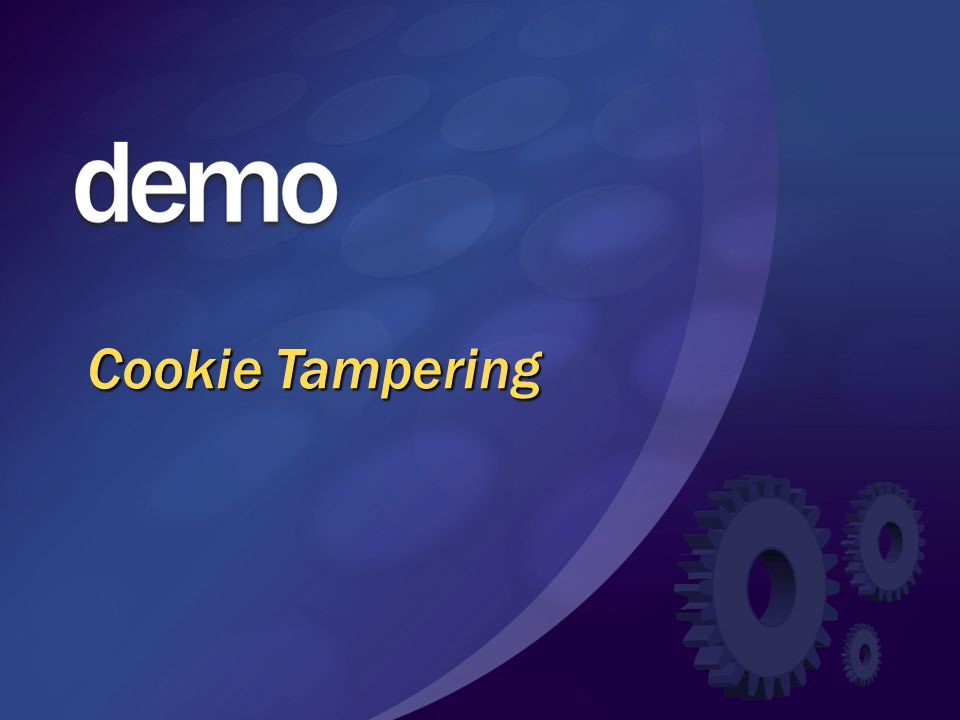 MGB 2003 Cookie Tampering. © 2003 Microsoft Corporation. All rights reserved.