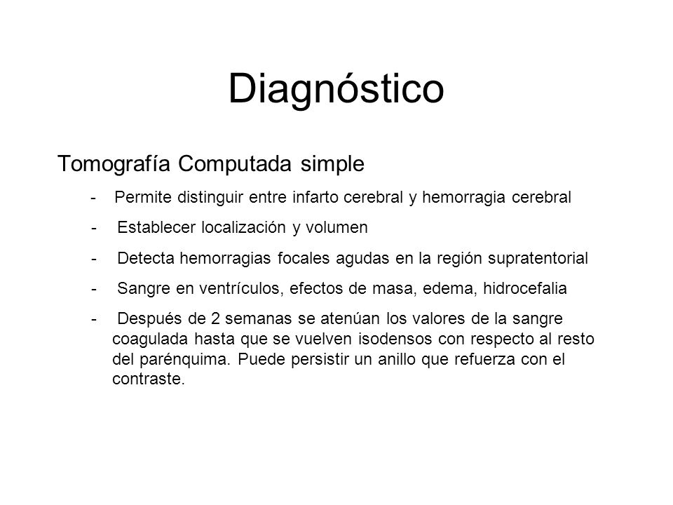 Diagnóstico Tomografía Computada simple