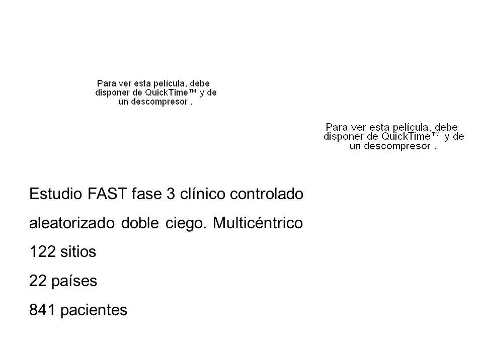 Estudio FAST fase 3 clínico controlado