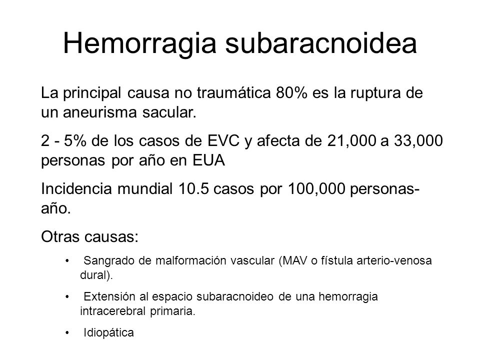 Hemorragia subaracnoidea