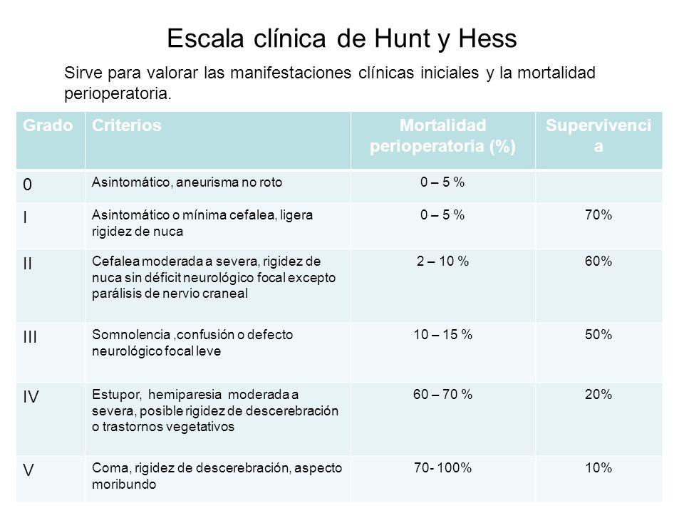 Escala clínica de Hunt y Hess