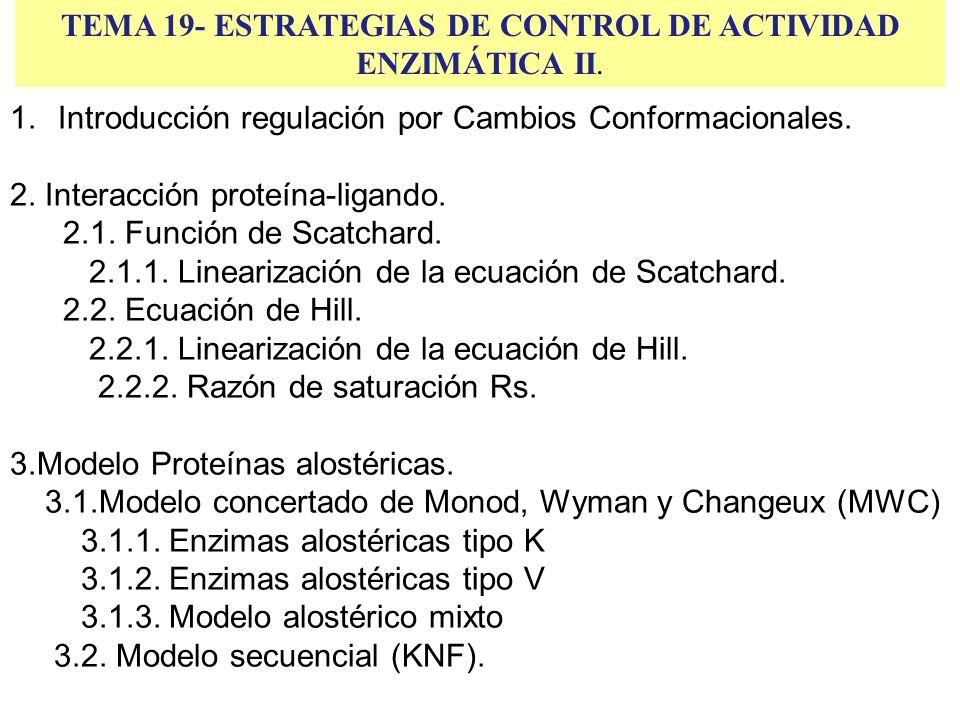 TEMA 19- ESTRATEGIAS DE CONTROL DE ACTIVIDAD ENZIMÁTICA II.