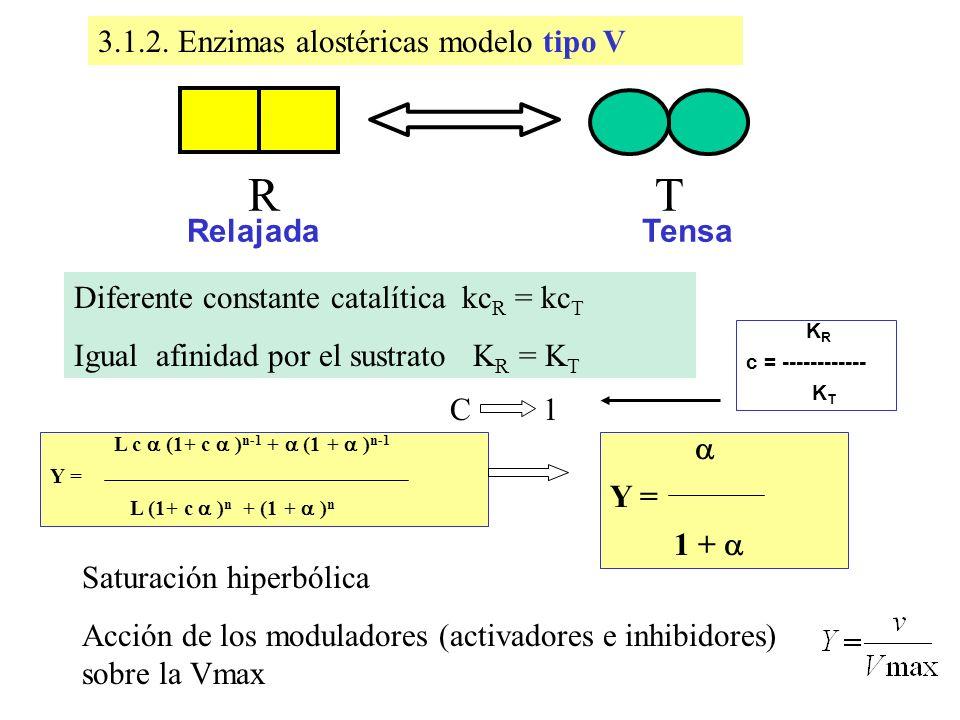 R T Enzimas alostéricas modelo tipo V
