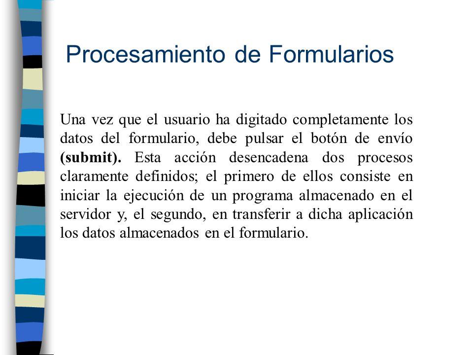 Procesamiento de Formularios