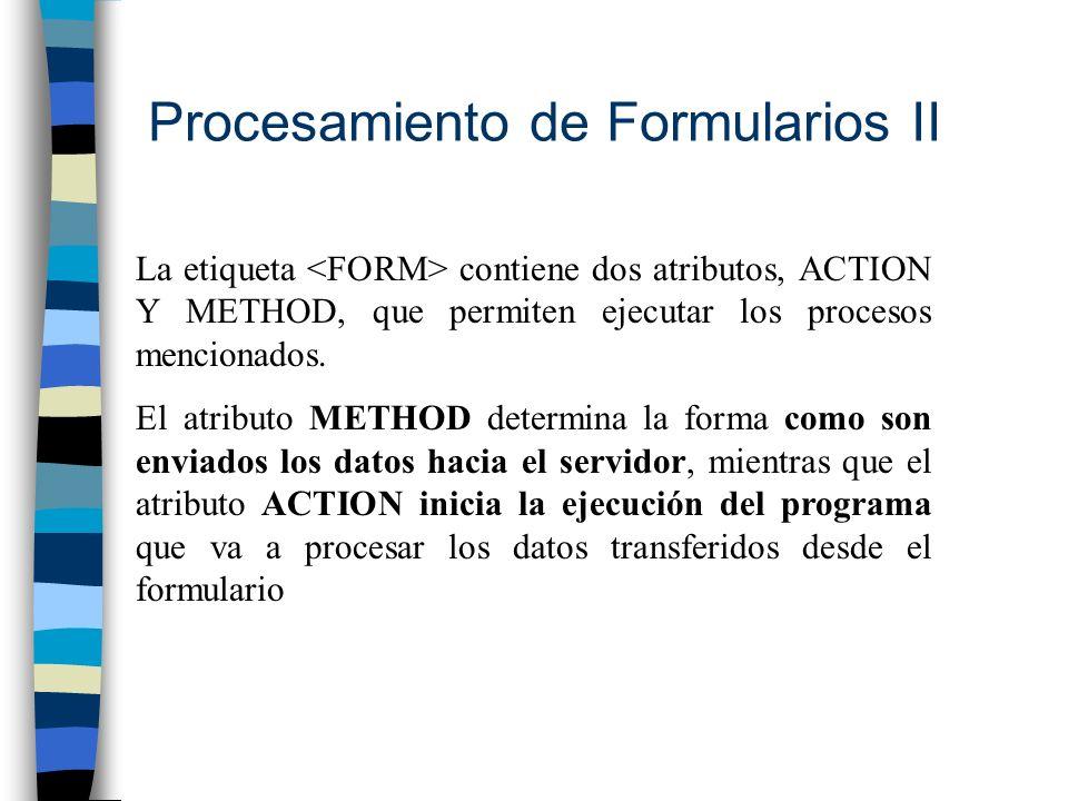 Procesamiento de Formularios II