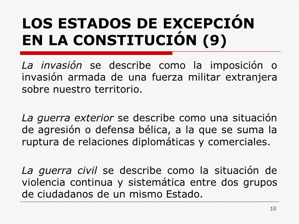 LOS ESTADOS DE EXCEPCIÓN EN LA CONSTITUCIÓN (9)