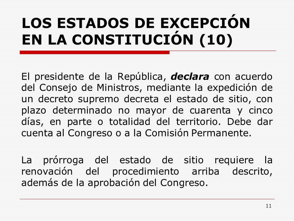 LOS ESTADOS DE EXCEPCIÓN EN LA CONSTITUCIÓN (10)